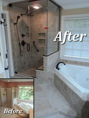 Complete home transformations inc for Bathroom remodel examples